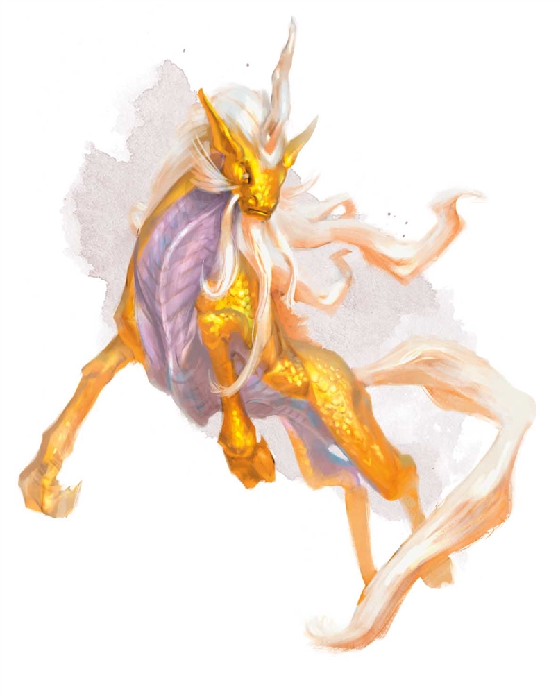 The Ki-rin, Celestial creature in Dungeons & Dragon 5e, image from Volvo's Guide to Monsters created by Wizards of the Coast.