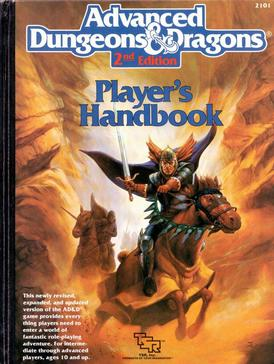 "Advanced Dungeons & Dragons Player's Handbook developed by David ""Zeb"" Cook"