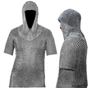 Picture of a chain mail that you can get on Amazon.com; this sample is 21.6 pounds of metal!