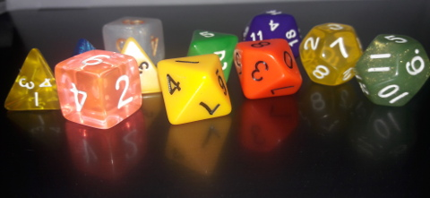 Assortment of Dungeons & Dragons Dice from WizDice