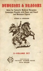 A Book Cover of the very first Dungeons & Dragons Box Set