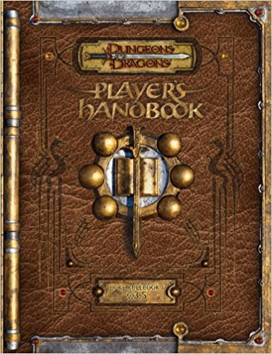 Picture of the hardcover of Dungeons & Dragons Player's Handbook, 3.5 Edition